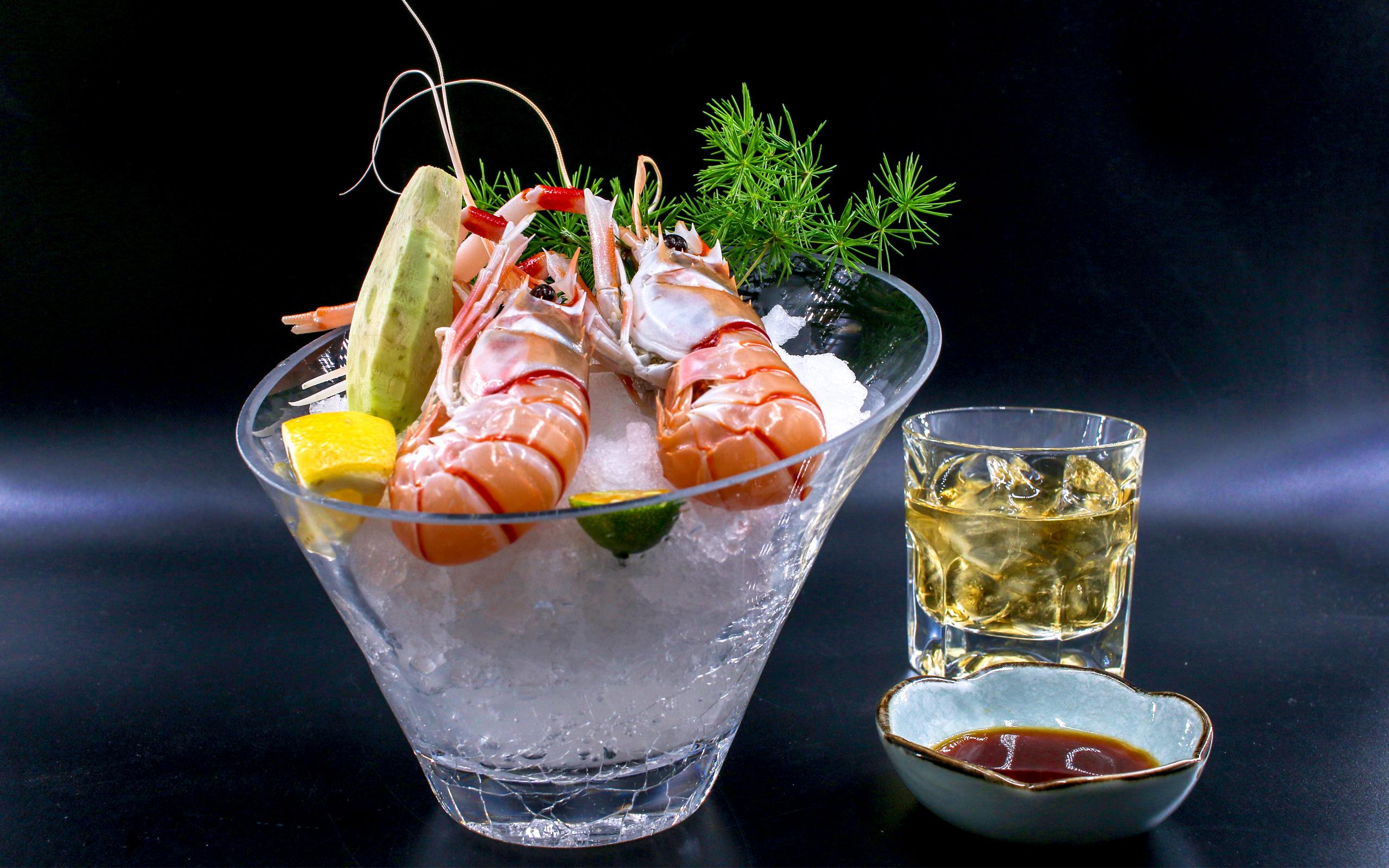 海鳌虾刺身